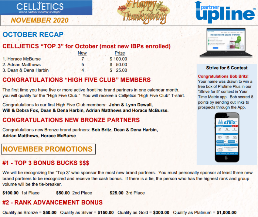 celljectics nutraceutical formulas promotion